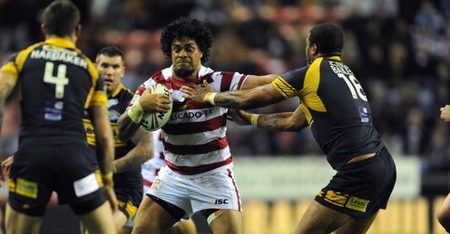 Epalahame Lauaki Wigan v Leeds Super League play off SF 2012