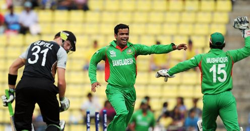 Martin Guptill bowled by Abdur Razzaq New Zealand v Bangladesh World Twenty20