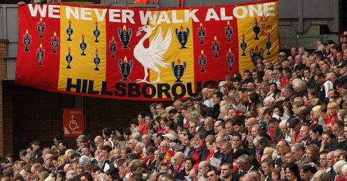 United in respect: fans from across the football family have shown their support