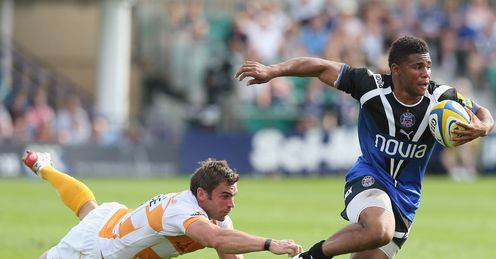 Kyle Eastmond breaks through to score Bath v Wasps Aviva Premiership 2012