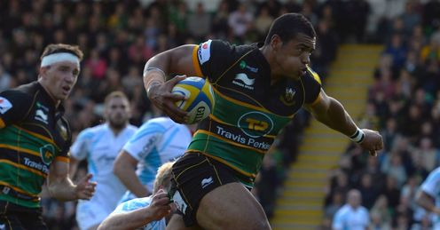 Luther Burrell Northampton Saints Aviva Premiership
