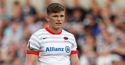 Owen Farrell: needs a better kicking return this Saturday