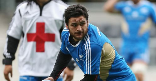 Piri Weepu New Zealand training session