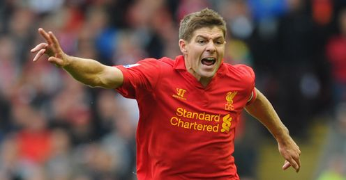 Gerrard: enjoys scoring against Manchester United