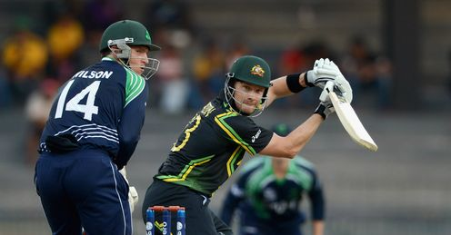 Australia Shane Watson hits out on his way to 51 against Ireland