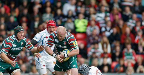 Dan Cole Leicester Tigers v Exeter Chiefs Aviva Premiership Welford Road