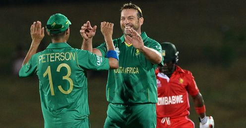 Jacques Kallis South Africa celebrating a wicket against Zimbabwe ICC World Twenty20