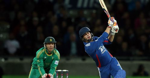 Craig Kieswetter England batting against South Africa in third Twenty20 Edgbaston