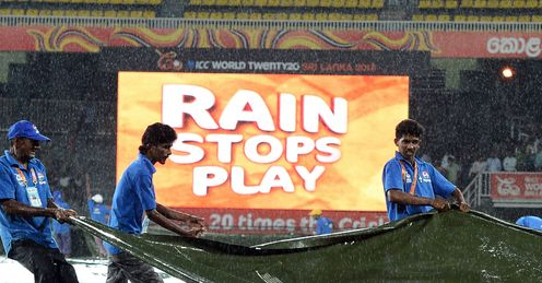 Rain during West Indies v Ireland World Twenty20 Group B Colombo RPS