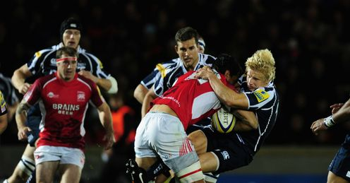 Dave Seymour feels the force of London Welsh