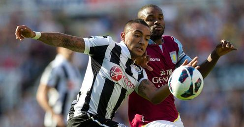 Crucial: Newcastle and Villa do battle in a vital game on Tuesday