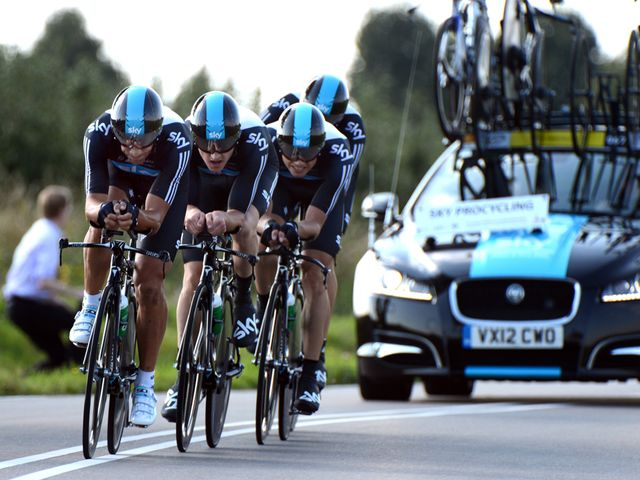 Team Sky: Ninth on the day