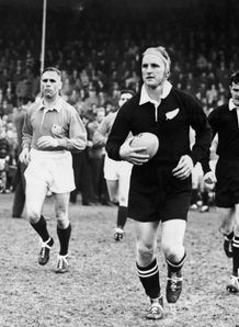 All Blacks captain Wilson Whineray v Lions