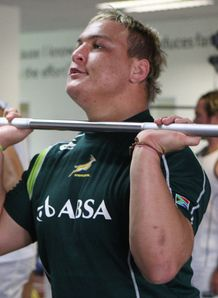 Coenie Oosthuizen in the gym