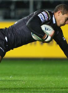 Eli Walker try Ospreys v Treviso Heineken Cup
