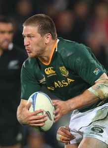 Francois Steyn of South Africa is tackled All Blacks 2012