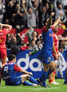 Grenoble after beating Perpignan