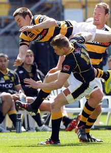 Jackson Ormond and Jason Woodward in Wellington v Taranaki