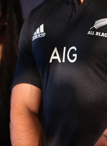 Liam Messam All Blacks AIG jersey 2012