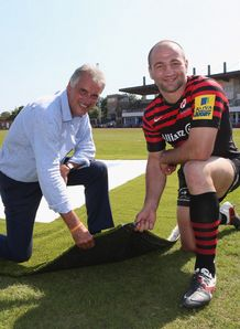 Nigel Wray L owner of Saracens artificial turf Steve Borthwick