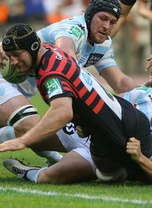 Steve Borthwick try Saracens v Racing Metro Heineken Cup