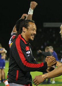 Tana Umaga celebrating ITM Cup Championship win