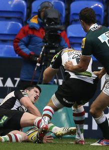 Tom Casson winning try London Irish v Harlequins Aviva Premiership 2012