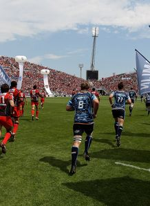 Toulon and Cardiff Blues at Amlin Challenge Cup final
