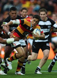 Trent Renata on a run for Waikato
