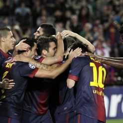 Barca: Celebrate Alba&#39;s goal