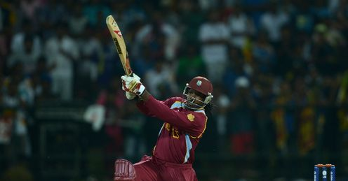Chris Gayle West Indies v Australia World Twenty20 semi-final RPS Colombo