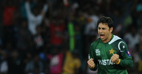 Saeed Ajmal Pakistan v Australia World Twenty20 Super Eight Colombo RPS