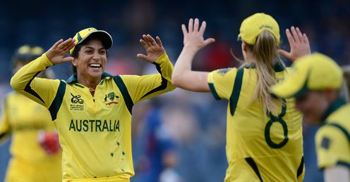 Lisa Sthalekar left Australia v England women World Twenty20 final Colombo