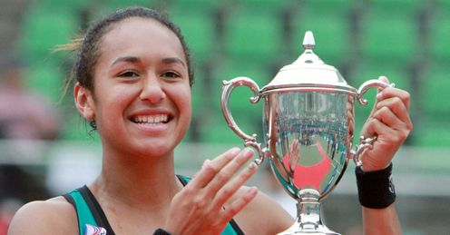 Watson: delighted to win first WTA singles title
