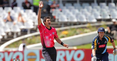 Mitchell Starc Sydney Sixers v Yorkshire Champions League Twenty20 Newlands Cape Town