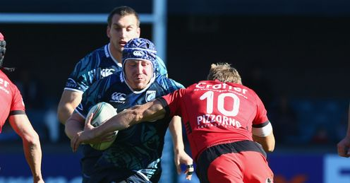 Marc Breeze Cardiff Blues v Toulon Heineken Cup Pool Six Cardiff Arms Park