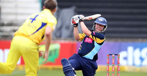 Gary Ballance Yorkshire v Chennai Super Kings Champions League Twenty20 Group A Kingsmead Durban