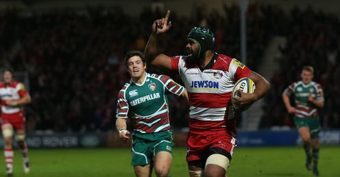 Akapusi Qera scores Gloucester v Leicester