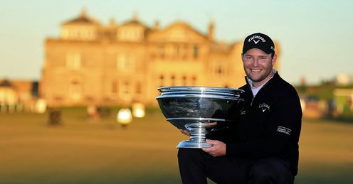 Branden Grace with plenty to smile about at St Andrews