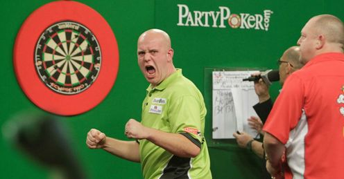 Van Gerwen: triumphed in last year's final