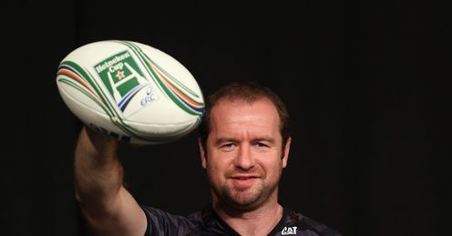 GEORDAN MURPHY OF LEICESTER TIGERS POSES HEINEKEN CUP SEASON LAUNCH