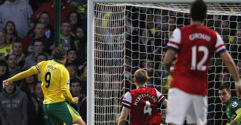 Grant Holt Arsenal Norwich City Premier Leaguie