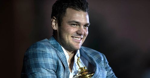 Martin Kaymer celebrating Europe&#39;s Ryder Cup victory Sunday