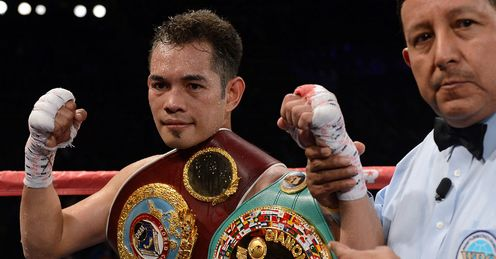 Donaire: the Filipino saw off Nishioka to retain his super-bantamweight titles