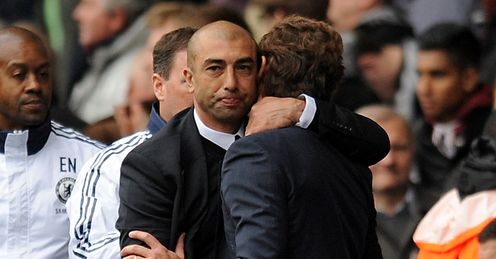 Roberto Di Matteo Andre Villas Boas Tottenham Hotspur Chelsea Premier League PA2