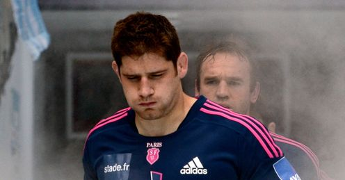 Stade Francais lock Pascal Pape runs out
