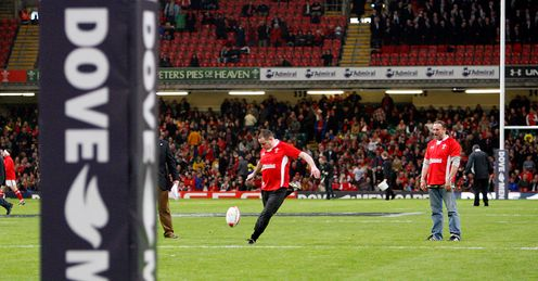 Wales fan kicking dove comp