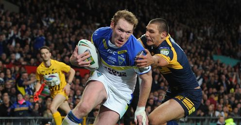 Warrington v Leeds Super League Grand Final Joel Monaghan Ryan Hall