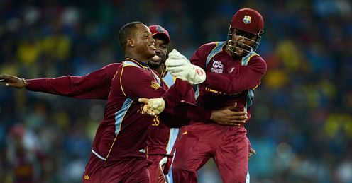 West Indies celebrate v Sri Lanka