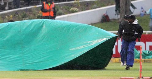 Yorkshire v Mumbai Indians - Covers on in Cape Town